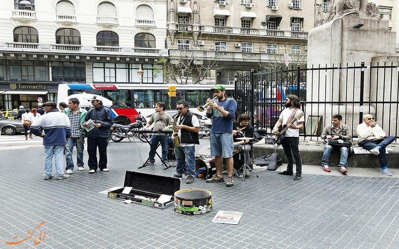 موسیقی در میدان های بوینس آیرس آرژانتین