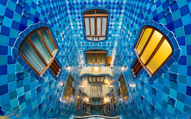 نمای داخلی خانه استخوانی بارسلونا