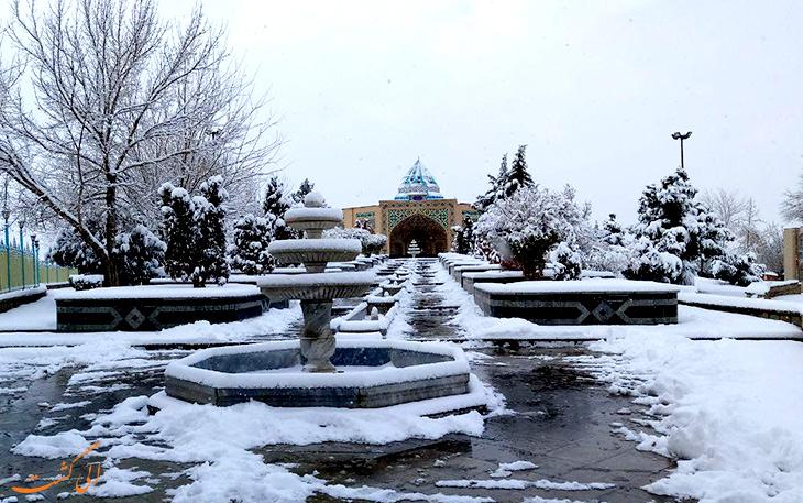 زمستان ها در پارک تاریخی سیفیه همدان