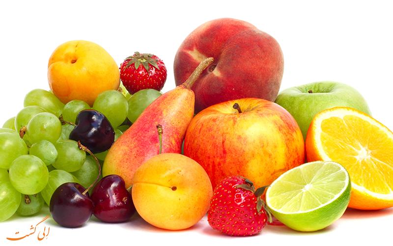 میوه، گوشت، سبزیجات (مواد غذایی فسادپذیر) و سایر محصولات کشاورزی