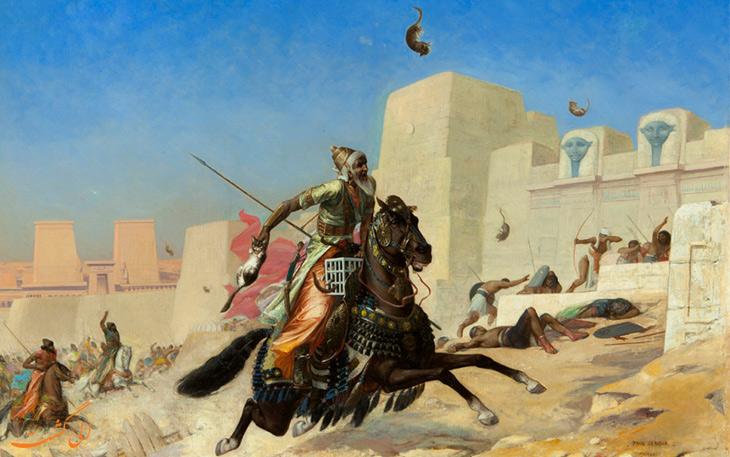 کمبوجیه دوم در نبرد با مصر باستان