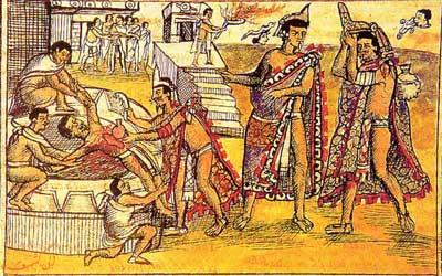 مراسم قربانی کردن انسان در تمدن مایا