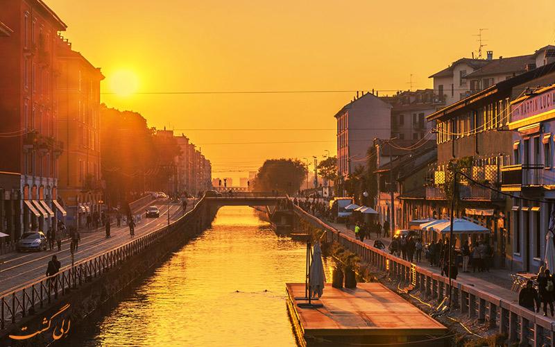 غروب آفتاب در کانال
