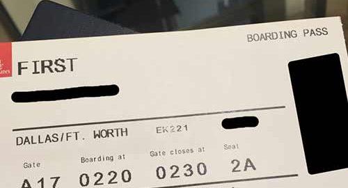 کارت پرواز هواپیما
