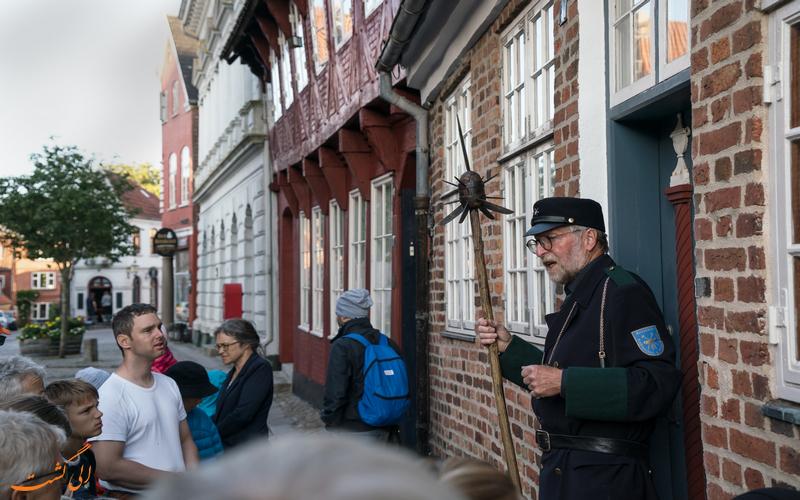 نگهبان شب در شهر ریبه دانمارک