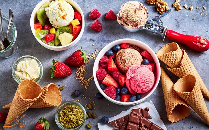 تفاوت جلاتو با بستنی