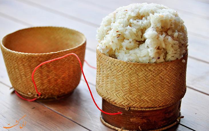 برنج چسبناک لائوس
