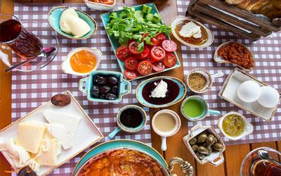 انواع صبحانه های ترکی