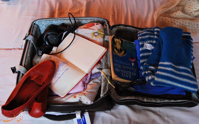 بستن چمدان مسافرتی