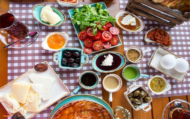 خوشمزه ترین صبحانه های ترکی