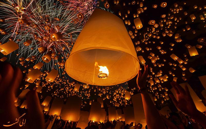 فستیوال یی پنگ چیانگ مای تایلند