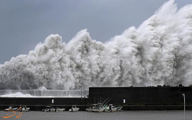 طوفان جبی در ژاپن