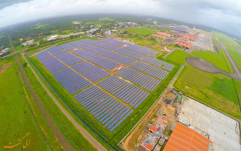 فرودگاه کوچین هند-استفاده از انرژی خورشیدی