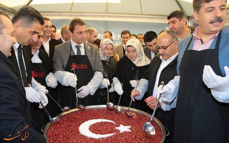 مراسم عاشورا در ترکیه-غذاهای نذری