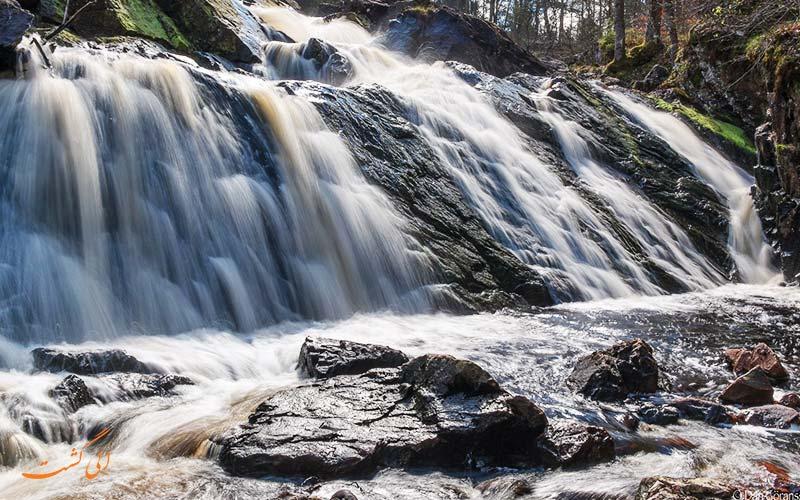 جاذبه های طبیعی سوئد | آبشار Danska