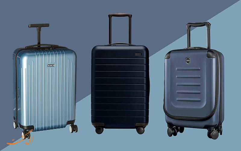 دسته های مختلف چمدان