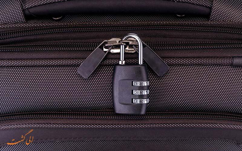 سیستم قفل چمدان