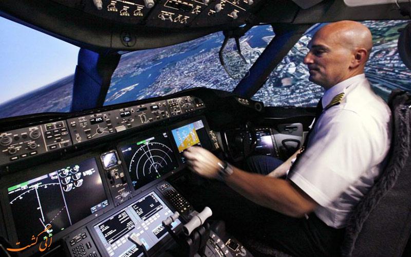 دکمه های کابین خلبان