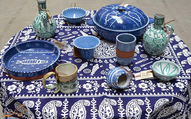 رومیزی سنتی آبی گرجستان
