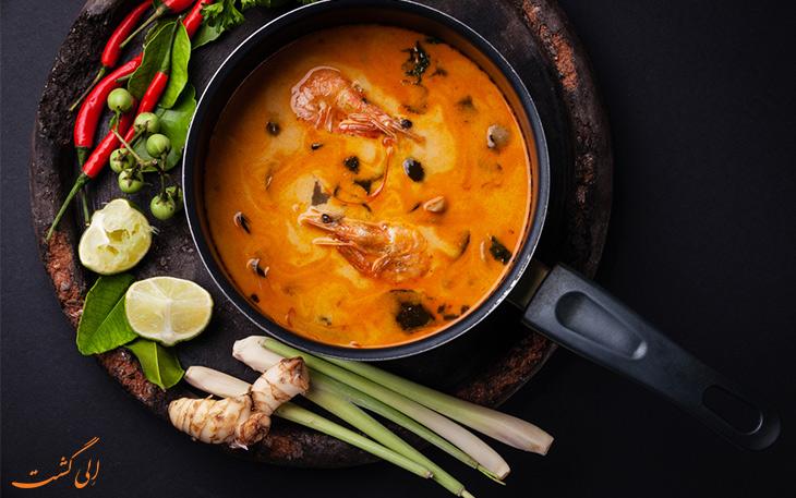 سوپ تام یام کونگ تایلند