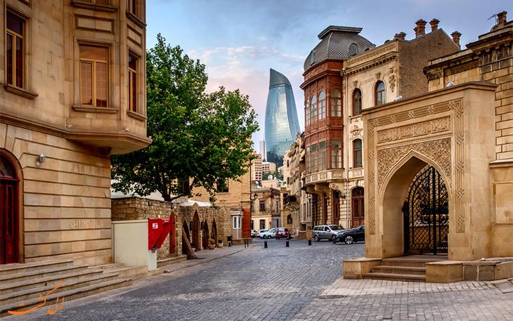 شهر قدیم باکو-بهترین مسیرهای زمینی