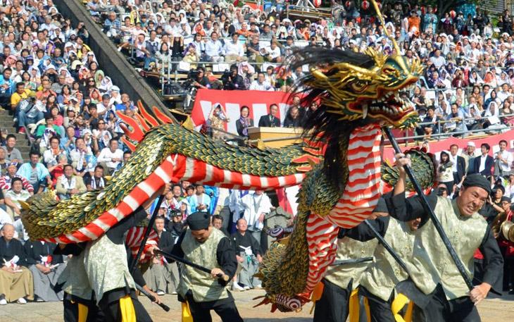 رقص اژدها در ژاپن