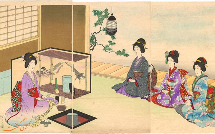 سنت سرو چای در ژاپن