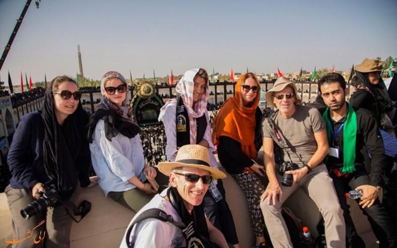 خارجی ها در عزاداری محرم در یزد