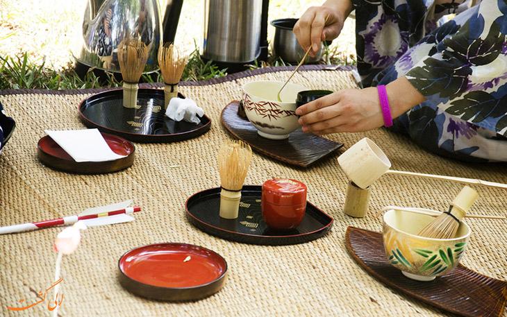 مراحل سرو چای ژاپنی