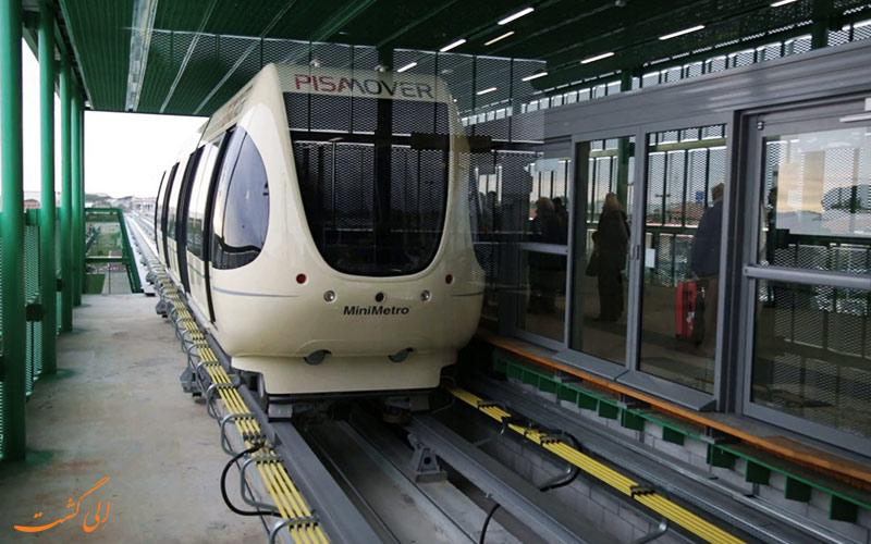 استفاده از قطارها در فرودگاه پیزا