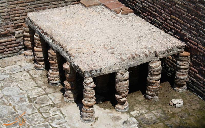سیستم گرمایشی حمام های رومی
