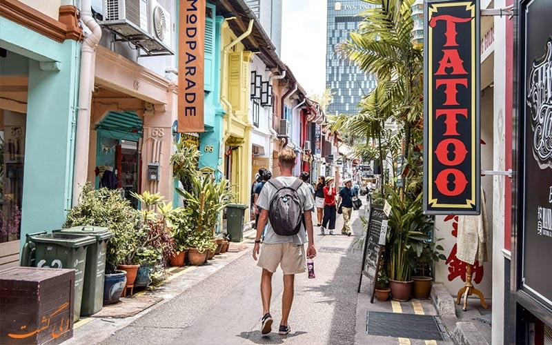 محله های پر رفت و آمد سنگاپور