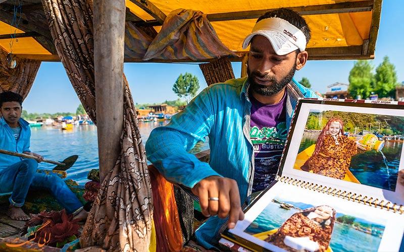 شیکارا-سواری-در-هند-عکاسی