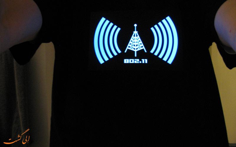 تی شرت نشان دهنده وای فای