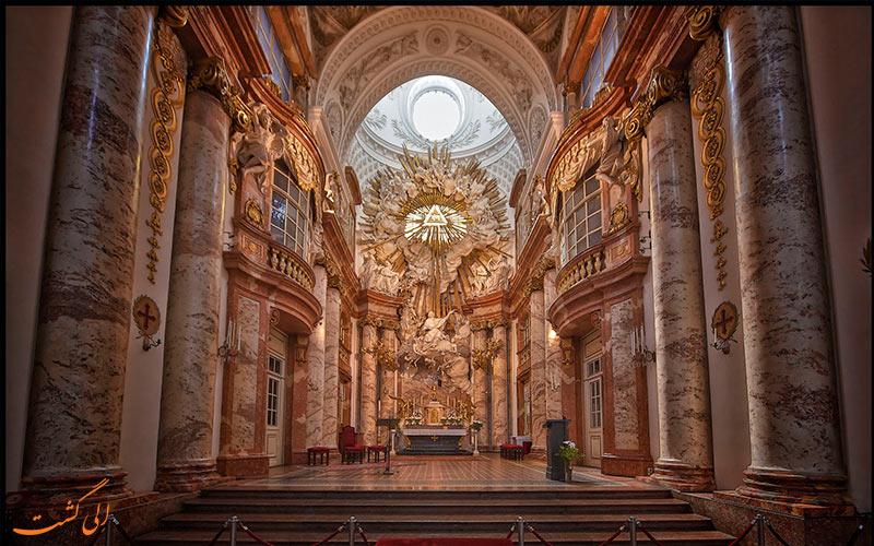 کلیسای سنت چارلز وین-نمای داخلی