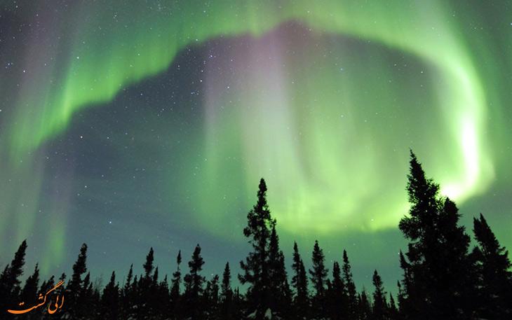 زمان دیدن شفق قطبی