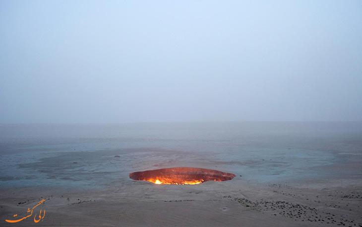 جاذبه های درب جهنم ترکمنستان