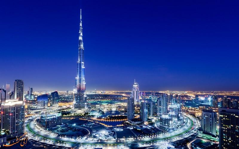 نمایی از شهر دبی در امارات