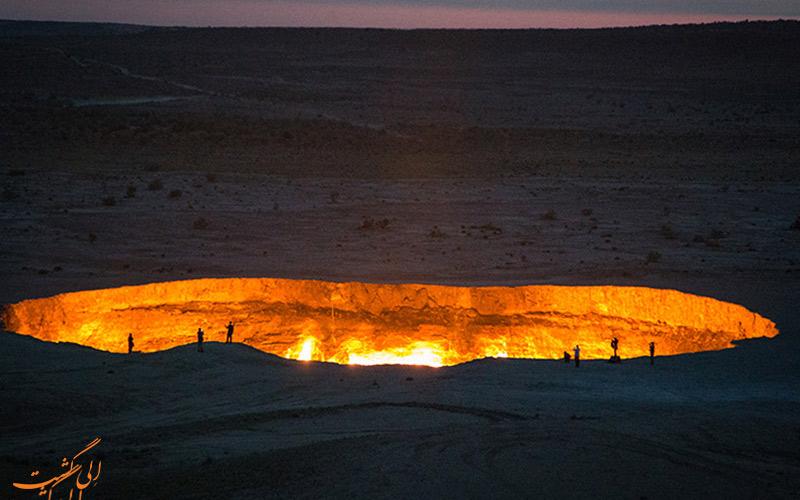 دروازه ی جهنم در ترکمنستان