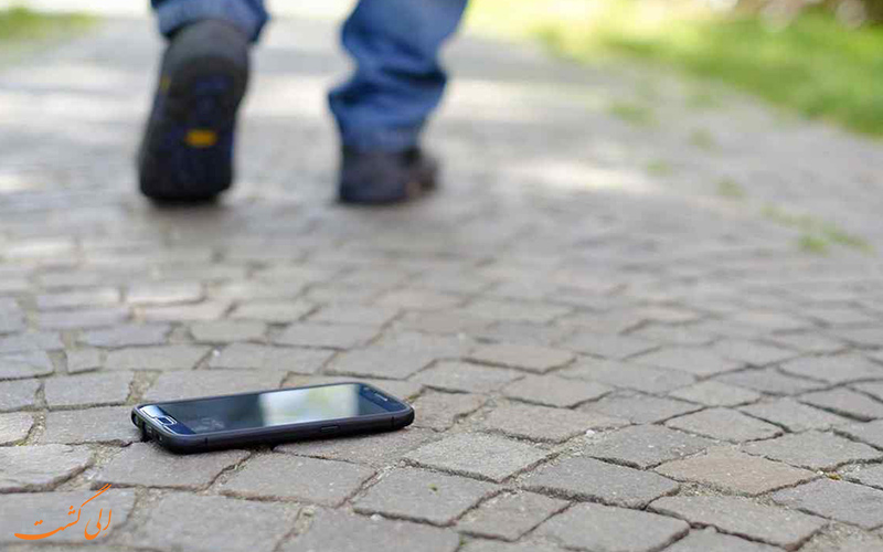 گم شدن موبایل در سفر