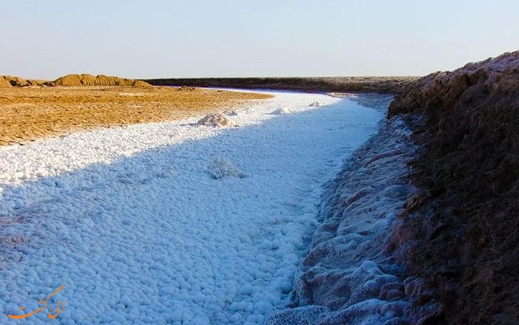 دریاچه نمکی در طبس