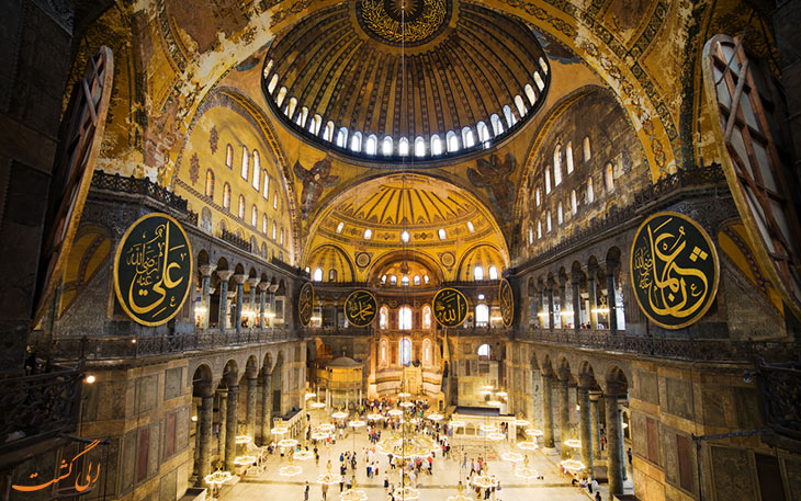 داخل مسجد ایاصوفیه استانبول