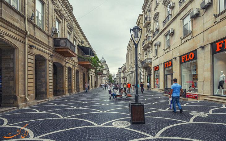 خیابان های باکو