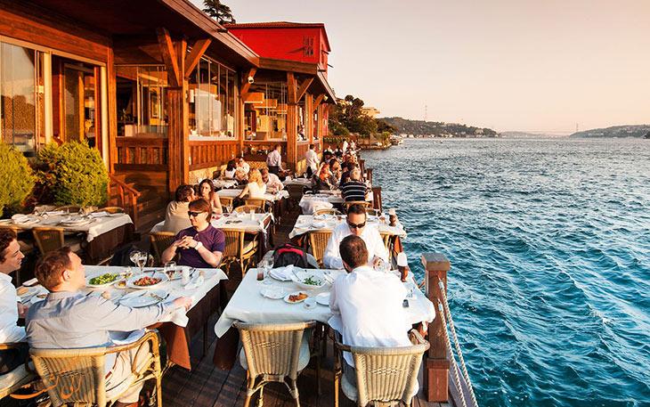 رستوران غذای دریایی در استانبول