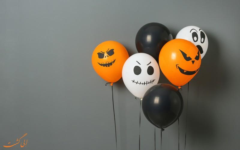 رنگ نارنجی و سیاه در هالووین