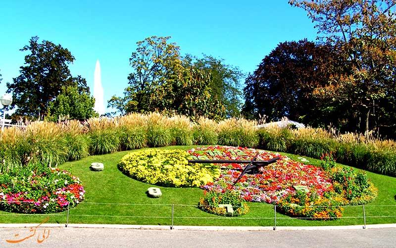 باغ انگلیسی و ساعت ژنو