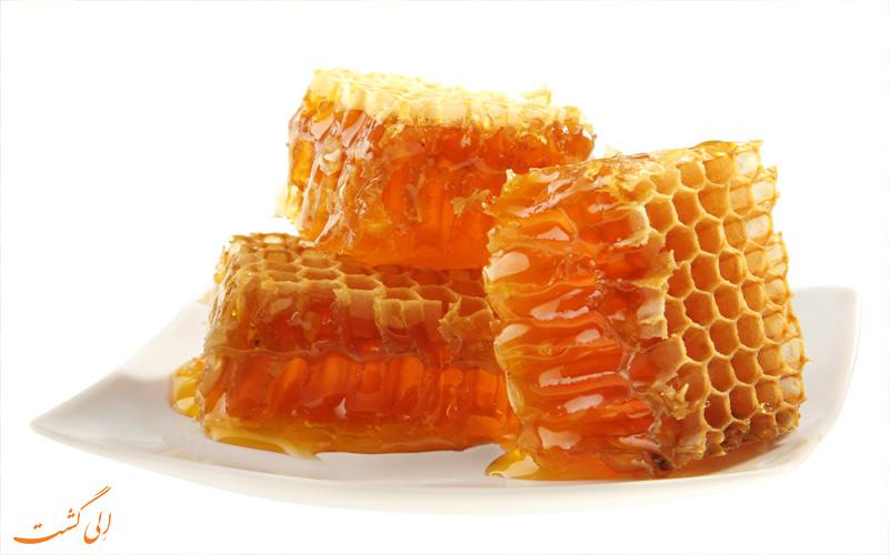 بهترین عسل های ایران-عسل با موم