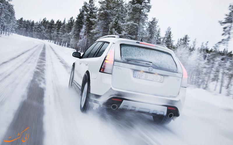 رانندگی در برف و یخ
