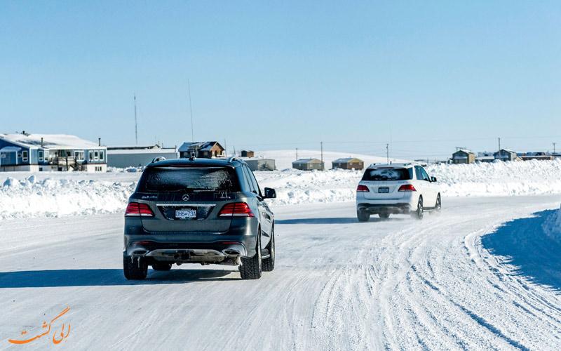 رانندگی در برف و باران