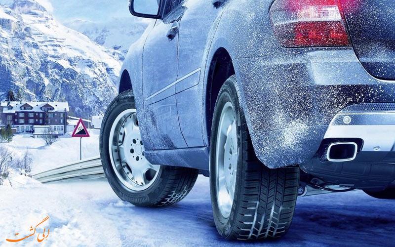 رانندگی در برف و یخ-انتخاب لاستیک